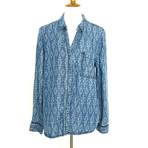 Anthropologie Holding Horses Chambray Blouse 14